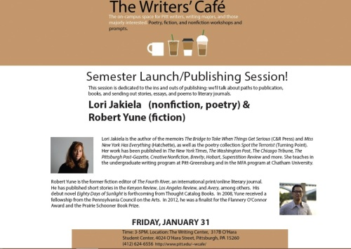 Writers' Cafe Session on Jan 31