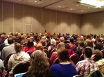 "At the panel ""YA and Middle Grade Speculative Fiction: What's at Stake?"""